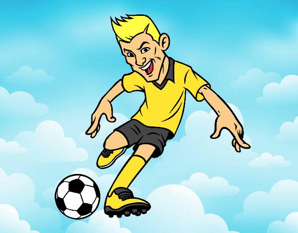 Dibujo De Delantero De Futbol Para Colorear: Dibujo De Delantero De Futbol Pintado Por Lucia0505 En