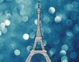 Dibujo La torre Eiffel pintado por KEYSI