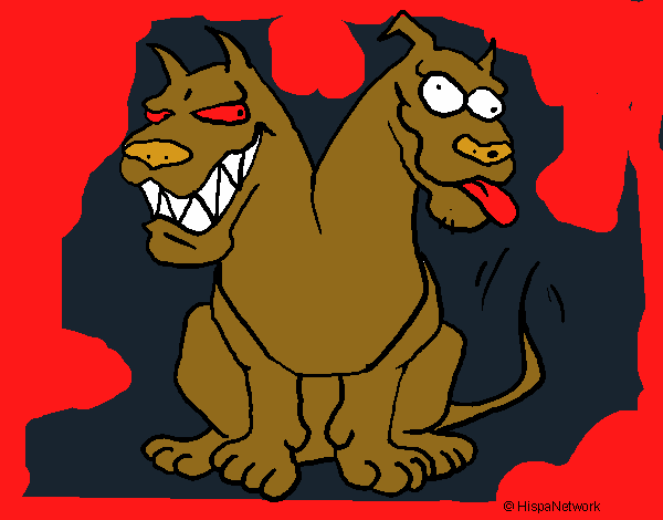 Dibujo De Perro De Dos Cabezas Pintado Por Nira1 En