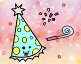 Dibujo Sombrero de fiesta pintado por Milu_01