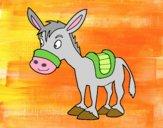 Dibujo Burro de granja pintado por meibol