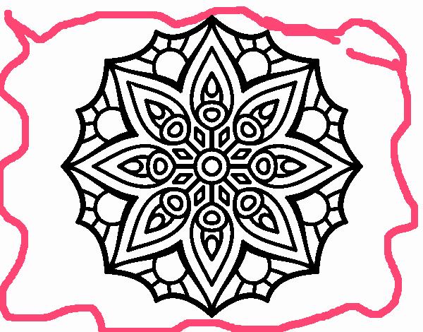 Dibujo De Mandala Meditación Para Colorear: Dibujos De Mandalas Para Colorear Relajarse Y Meditar