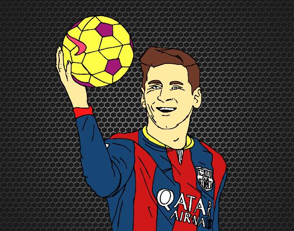 Dibujo de Lionel Messi pintado por en Dibujosnet el da 010116