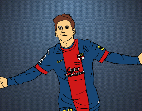 Dibujo de Messi pintado por en Dibujosnet el da 010116 a las