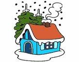 Dibujo Casa en la nieve pintado por Bertha1276