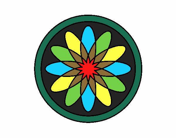 34 Mandalas Para Imprimir Y Colorear: Dibujo De Mandala 34 Pintado Por En Dibujos.net El Día 02
