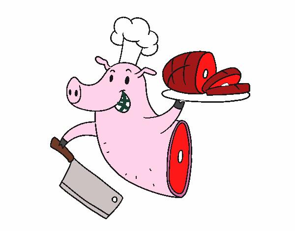 Dibujo De Carne De Cerdo Pintado Por En Dibujos.net El