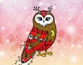 Dibujo Lechuza de invierno pintado por josephin
