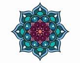Dibujo Mandala flor de fuego pintado por Orianalas