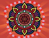 Dibujo Mandala puntos de fuego pintado por josephin