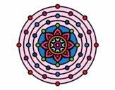 Dibujo Mandala sistema solar pintado por josephin