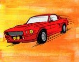Dibujo Mustang retro pintado por lucian333o