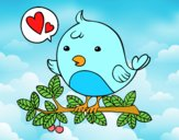 Dibujo Pájaro de Twitter pintado por nutelita