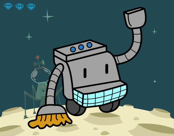 Dibujo de robot de limpieza pintado por en el - Robot de limpieza a vapor ...