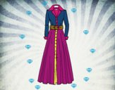 Dibujo Vestido camisero pintado por josephin