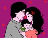 Dibujo Abrazo familiar pintado por Itzel24