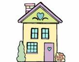 Casa con corazones