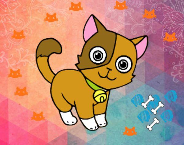 Dibujos De Animales Adorables Para Colorear: Dibujo De El Gata Adorable Pintado Por En Dibujos.net El
