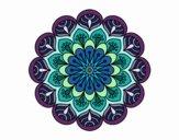 Dibujo Mandala flor y hojas pintado por Orianalas