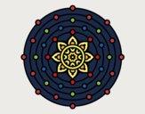 Dibujo Mandala sistema solar pintado por lucian333o