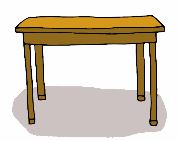 Dibujo de mesa rectangular pintado por en el for Mesas de dibujo baratas