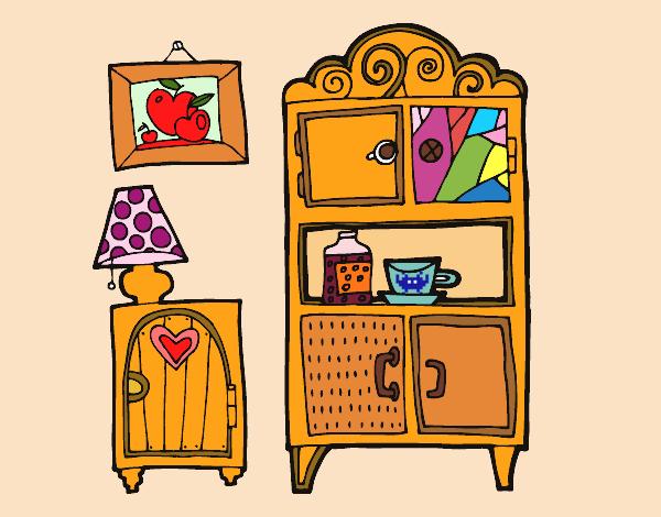 dibujo de muebles de salón pintado por mariacorte en dibujos.net ... - Dibujo De Muebles