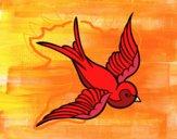 Dibujo Tatuaje de pájaro pintado por lucian333o