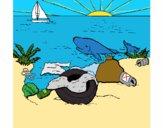Dibujo Tierra contaminada pintado por lucian333o