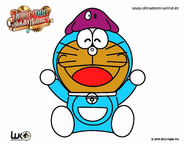 Dibujos Para Colorear E Imprimir De Doraemon: Dibujo De Doraemon Feliz Pintado Por En Dibujos.net El Día