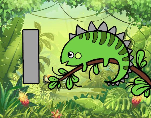 Dibujo de I de Iguana pintado por en Dibujosnet el da 270117 a