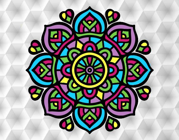 Dibujo de mandala para la concentraci n mental pintado por en el d a 25 01 17 a las - Colores para la concentracion ...