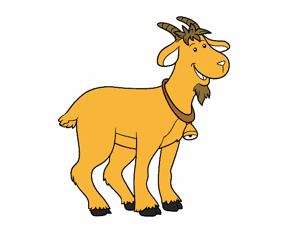 Chivo Dibujo Animado: Dibujo De Cabra De Granja Pintado Por En Dibujos.net El