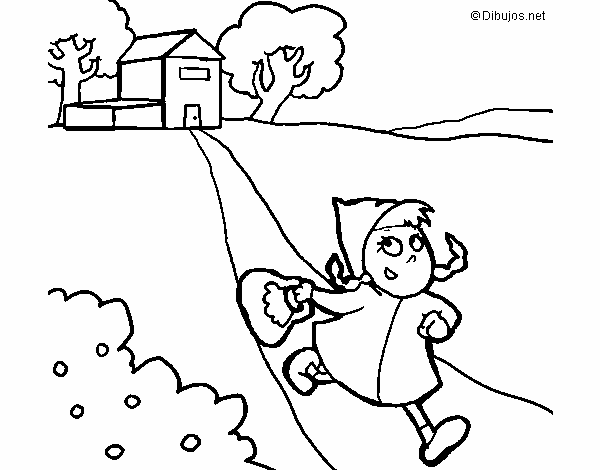Dibujos De Caperucita Roja Para Colorear E Imprimir: Dibujo De Caperucita Roja 3 Pintado Por En Dibujos.net El