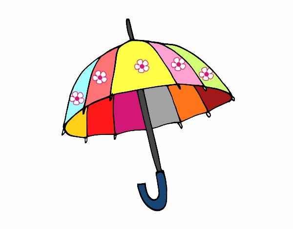 Dibujos De Paraguas Para Colorear E Imprimir: Dibujo De Un Paraguas Pintado Por Mariacorte En Dibujos