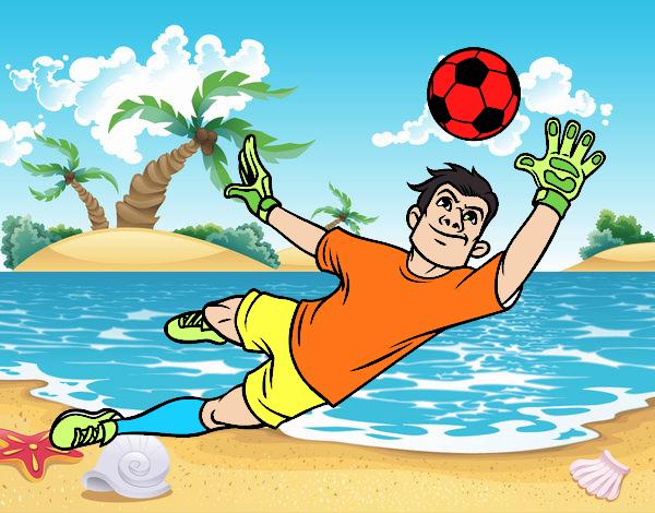 Dibujos De Porteros De Futbol Stunning Futbol Dibujo: Dibujo De Un Portero De Fútbol Pintado Por En Dibujos.net