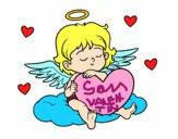 Dibujo Cupido con corazón pintado por sheyla9
