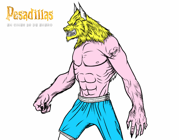 Dibujo De Hombre Lobo Para Colorear: Dibujo De El Hombre Lobo Pintado Por En Dibujos.net El Día