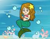 Dibujo Sirena peinándose pintado por sheyla9