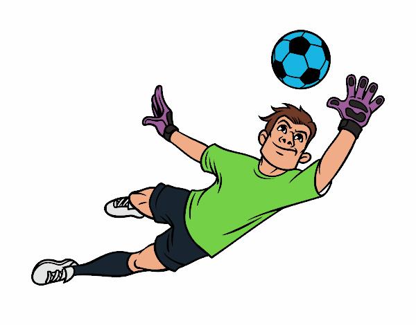 Dibujos De Porteros De Futbol Stunning Futbol Dibujo: Dibujo De Un Portero De Fútbol Pintado Por Jeag En