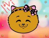 Dibujo Cara de gatita feliz pintado por kiu89