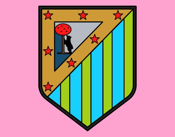 Historico Escudos Futbol Atletico Madrid