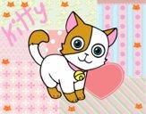 Dibujo Gato doméstico pintado por kiu89