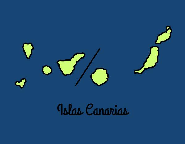 Dibujo de islas canarias pintado por en el d a - Islas canarias con ninos ...