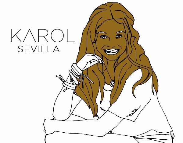 Dibujos De Soy Luna Para Colorear Juegos: Dibujo De Karol Sevilla De Soy Luna Pintado Por En Dibujos