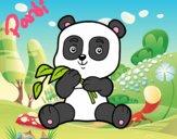 Dibujo Un oso panda pintado por kiu89