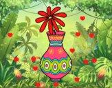Una flor en un jarrón
