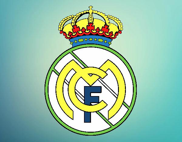 Dibujos Para Colorear Escudo Real Madrid: Dibujo De Escudo Del Real Madrid C F Para Colorear Dibujo
