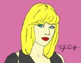 Dibujo Taylor Swift pintado por fefiii