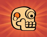 Dibujo Una calavera azteca pintado por 145434