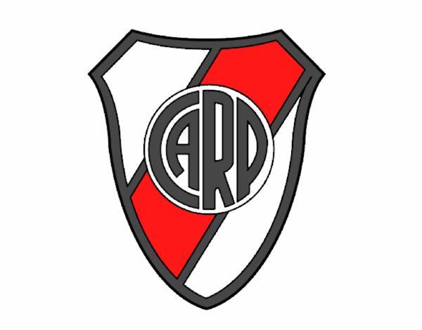 Dibujos Escudos De Futbol Para Colorear: Dibujo De Escudo Atlético River Plate Pintado Por En